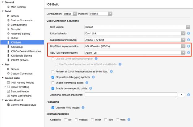 Xamarin Studio 6.0 - Choose your HttpClient implementation