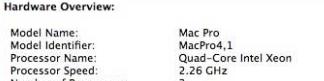 Mac Pro 2009 - System Information