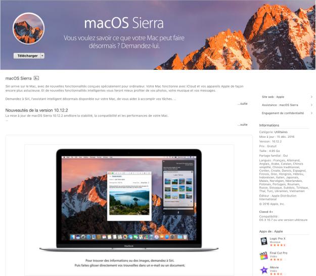 macOS Sierra - App Store